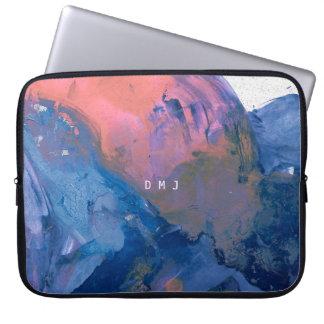 Sleeve Para Notebook A bolsa de laptop do monograma - exemplo moderno