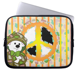 Sleeve Para Notebook A bolsa de laptop do neopreno do SOLDADO do URSO