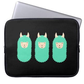 Sleeve Para Notebook A bolsa de laptop feliz dos lamas de Emoji
