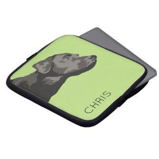 Sleeve Para Notebook A bolsa de laptop personalizada Labrador preta