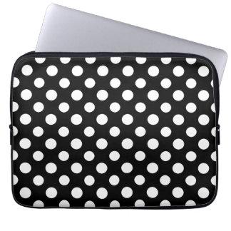 Sleeve Para Notebook A bolsa de laptop preto e branco do teste padrão