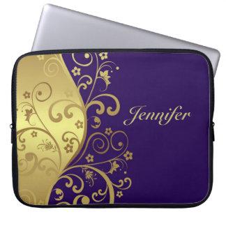 Sleeve Para Notebook A bolsa de laptop--Redemoinhos escuros do roxo &
