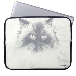 Sleeve Para Notebook A bolsa de laptop tirada mão do computador do gato