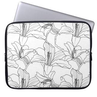 Sleeve Para Notebook A bolsa de laptop tropical dos esboços