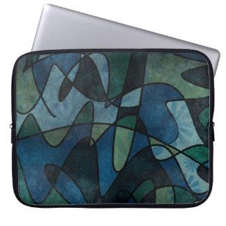Sleeve Para Notebook Arte abstracta do vitral de Digitas da cerceta do