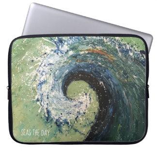 Sleeve Para Notebook Arte abstracta litoral da onda da praia