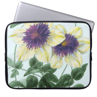 Sleeve Para Notebook Arte da flor do Clematis