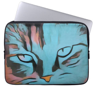 Sleeve Para Notebook As bolsas de laptop dos olhos de gatos