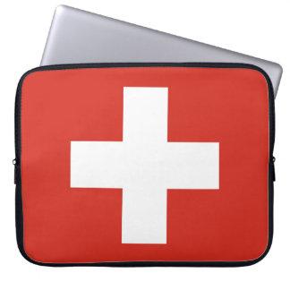Sleeve Para Notebook Bandeira nacional da suiça