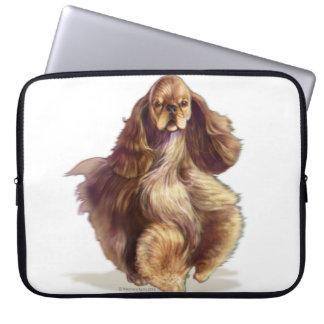 Sleeve Para Notebook Beleza do lustre da bolsa de laptop de cocker
