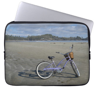 Sleeve Para Notebook Bicicleta na praia