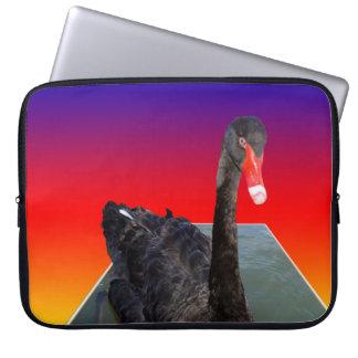 Sleeve Para Notebook Black_Swan_Rainbow_Popout, _15inch_Laptop_Sleeve