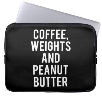 Sleeve Para Notebook Café, pesos e manteiga de amendoim - novidade