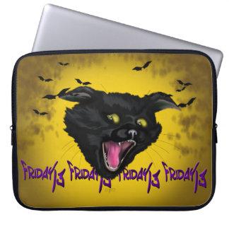 """Sleeve Para Notebook CAT saco 15"""" dos eletrônicos do sexta-feira 13"""