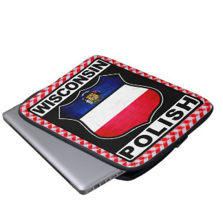 Sleeve Para Notebook Cobrir americano polonês do laptop de Wisconsin