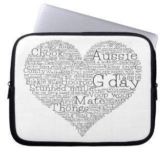 Sleeve Para Notebook Coração australiano do calão