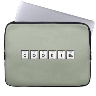 Sleeve Para Notebook Elemento químico Z57c7 dos biscoitos