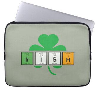 Sleeve Para Notebook Elemento químico Zz37b do cloverleaf irlandês