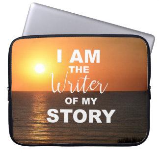 Sleeve Para Notebook Eu sou o escritor de minha história, cobrir do