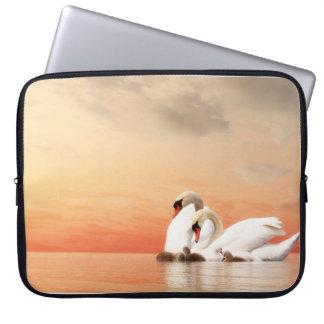 Sleeve Para Notebook Família da cisne