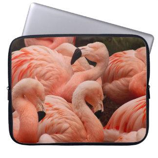 Sleeve Para Notebook Flamingos cor-de-rosa