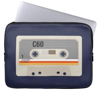 Sleeve Para Notebook Gráfico nostálgico retro da gaveta do melómano