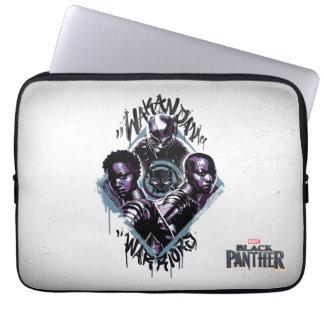 Sleeve Para Notebook Grafites dos guerreiros da pantera preta  