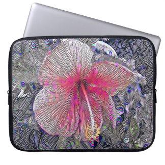 Sleeve Para Notebook Habiscus havaiano, a bolsa de laptop da flor de