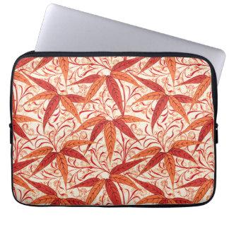 Sleeve Para Notebook Impressão de bambu de William Morris, tanjerina