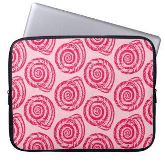 Sleeve Para Notebook Impressão de bloco espiral do Seashell,