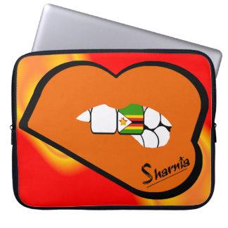 Sleeve Para Notebook Lábios da laranja da bolsa de laptop de Zimbabwe