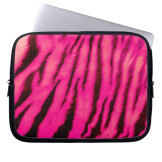 Sleeve Para Notebook Listras cor-de-rosa selvagens & vibrantes do tigre