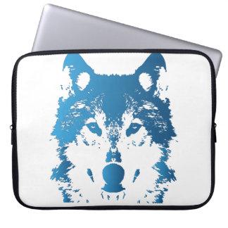 Sleeve Para Notebook Lobo do azul de gelo da ilustração