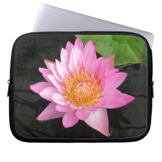 Sleeve Para Notebook Lotus cor-de-rosa Waterlily