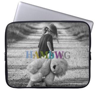 Sleeve Para Notebook Menina de HAMbWG com urso de ursinho - luva do