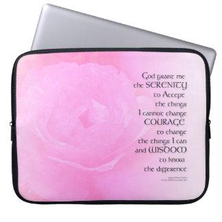 Sleeve Para Notebook Mistura do rosa do rosa da oração da serenidade