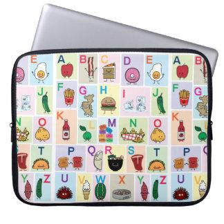 Sleeve Para Notebook O alfabeto de ABC que aprende alimentos felizes