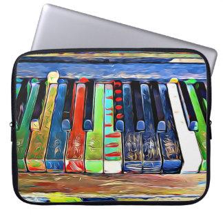 Sleeve Para Notebook O piano pintado colorido fecha a sacola artística