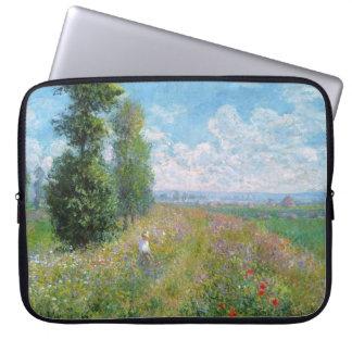 Sleeve Para Notebook O prado com álamos - a bolsa de laptop de Monet