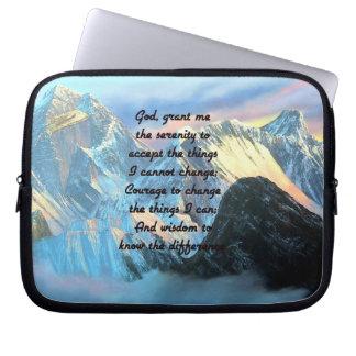 Sleeve Para Notebook Oração da serenidade com vista panorâmica Monte