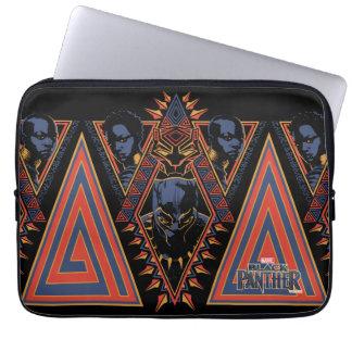 Sleeve Para Notebook Painel tribal dos guerreiros da pantera preta  