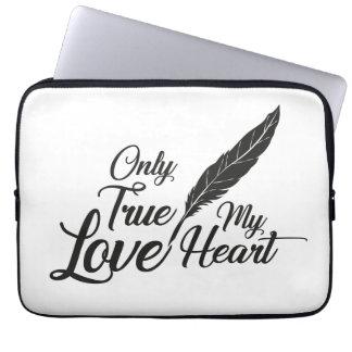 Sleeve Para Notebook Pena verdadeira do amor da ilustração