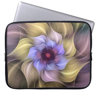 Sleeve Para Notebook Pétalas de roda da flor Pastel do Fractal