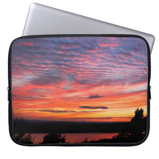 Sleeve Para Notebook Por do sol sobre o parque nacional do Acadia do