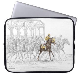 Sleeve Para Notebook Porta começar da corrida de cavalos