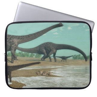 Sleeve Para Notebook Rebanho dos dinossauros do Diplodocus - 3D rendem