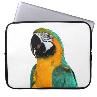 Sleeve Para Notebook retrato colorido do pássaro do papagaio do macaw