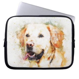 Sleeve Para Notebook Retrato da arte do cão de labrador retriever