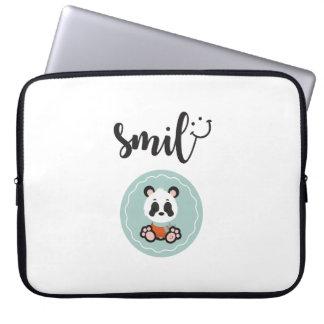 Sleeve Para Notebook Saco dos eletrônicos da panda do sorriso