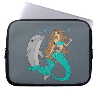 Sleeve Para Notebook Sereia com golfinho